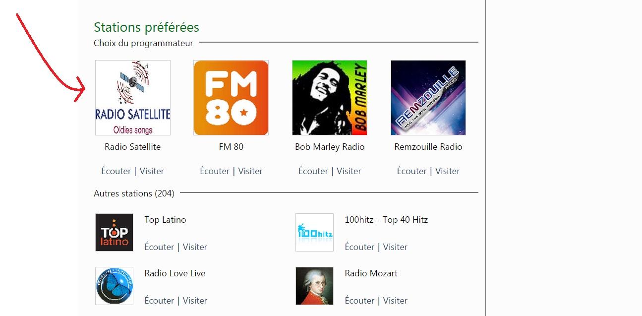 Radio Satellite top Windows Media guide