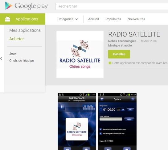 Radio Satellite Android GOOGLE STORE