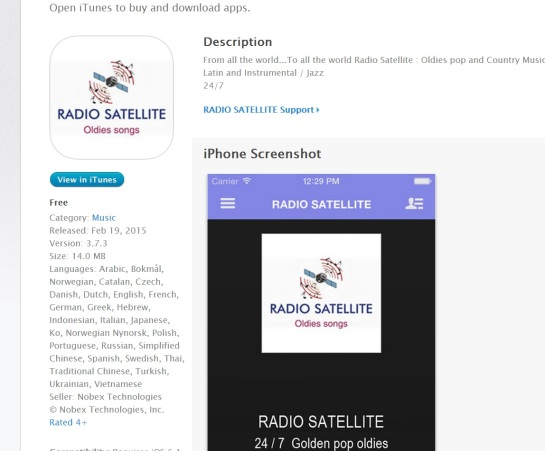 Radio Satellite Apple APPLE STORE ( IPHONES IPADS)