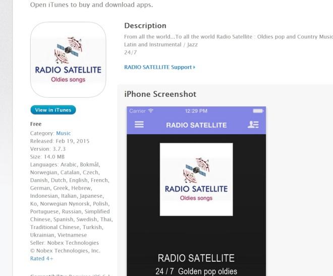 Radio Satellite Apple APPLE STORE ( IPHONES IPADS)
