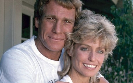 Ryan O Neal and Farah Fawcett