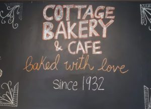 Cottage Bakery sign