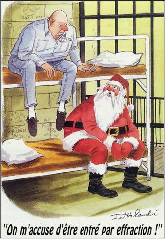 père noel en prison