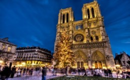 Notre Dame de Paris before burning : Christmas2013
