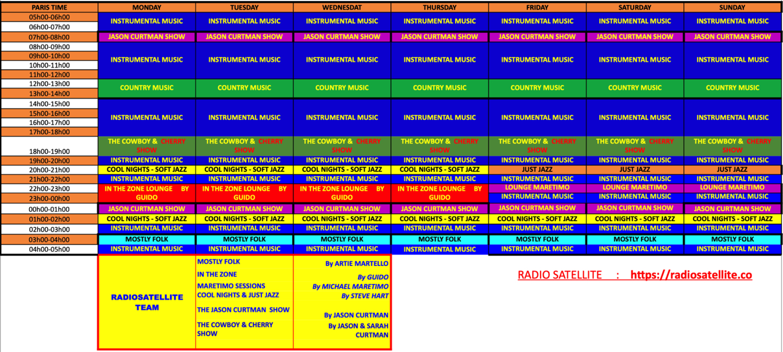 GRILLE DES PROGRAMMES RS